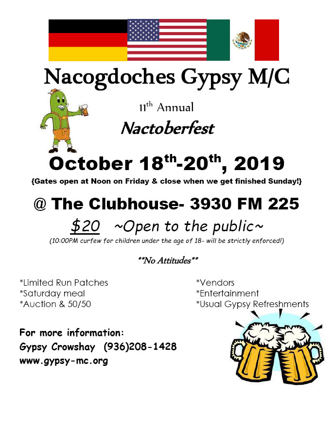 11th Annual Nactoberfest Nacogdoches,TX