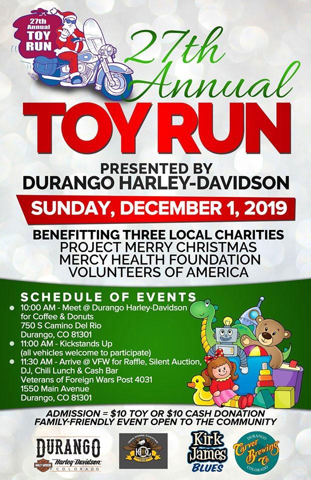 27th Annual Toy Run Durango,CO