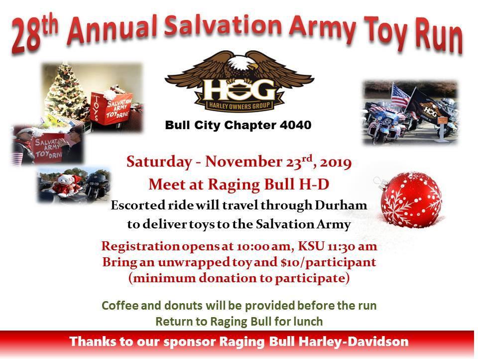28th Annual Salvation Army Toy Run Durham,NC