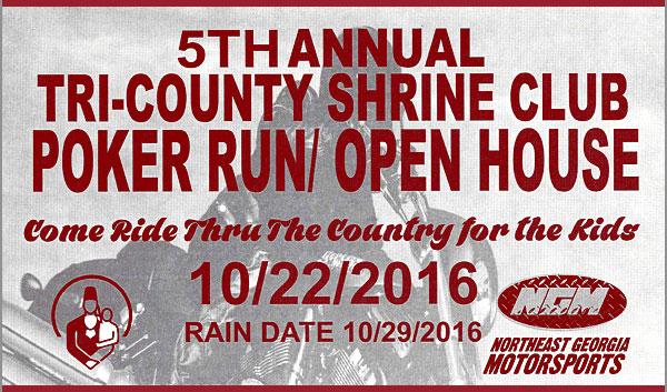 5th Annual Tri-County Shrine Club Poker Run Hoschton,GA
