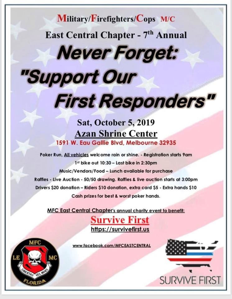 7th Annual Never Forget: Support Our First Responders Melbourne,FL