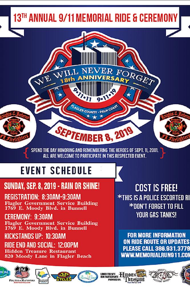 13th Annual 9-11 Memorial Ride Bunnell,FL