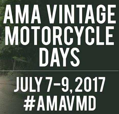 2017 AMA Vintage Motorcycle Days Lexington,OH