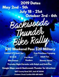 Backwoods Thunder Bike Rally - Fall Jack,AL