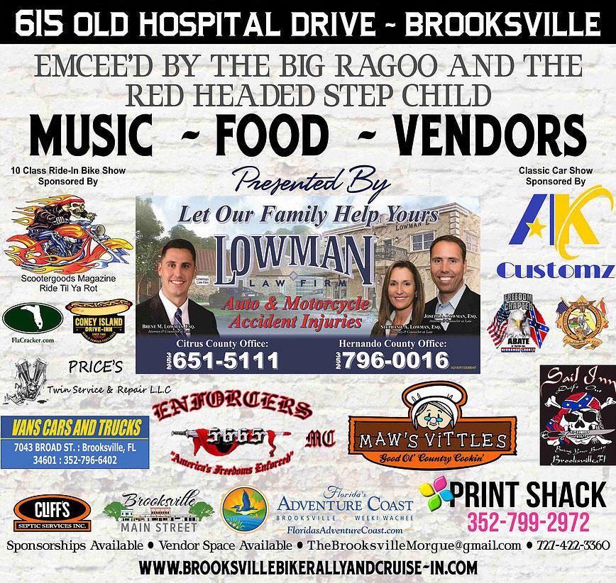 Brooksville Bike Rally & Cruise-In - December 2019 Brooksville,FL