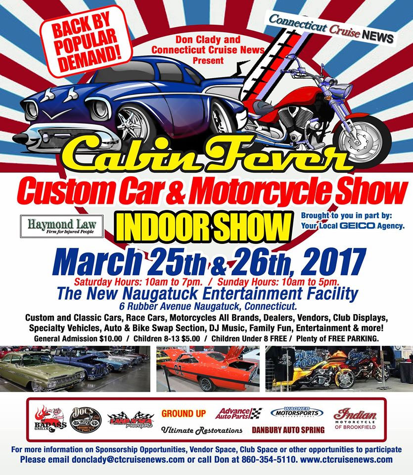 2017 Cabin Fever Motorcycle Show Naugatuck,CT