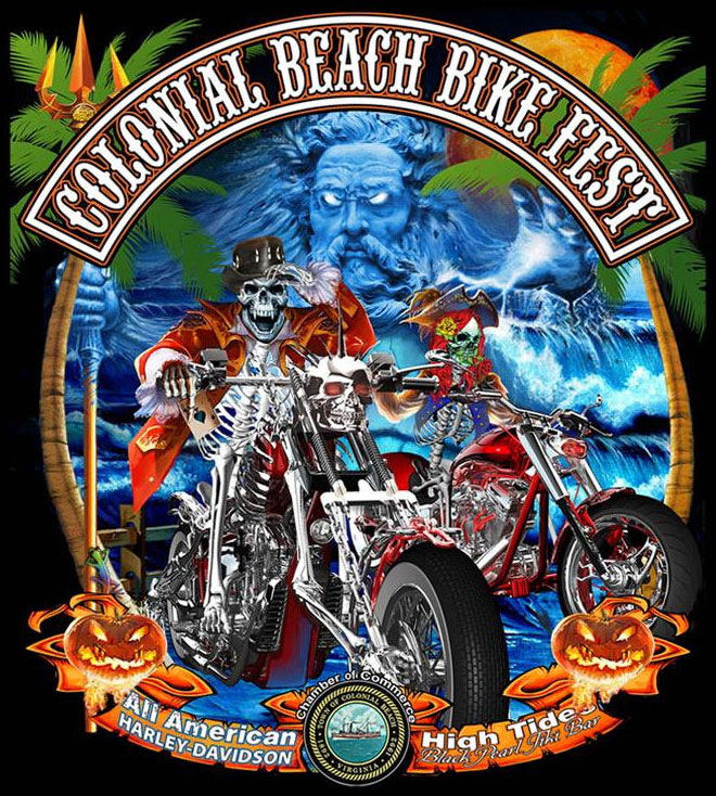 6th Annual Colonial Beach Bikefest 			Colonial Beach,VA