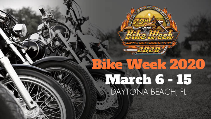 79th Annual Daytona Bike Week 2020 Daytona Beach,FL