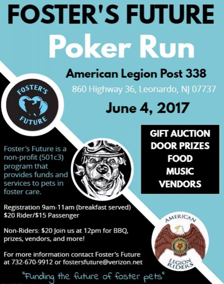 Foster's Future Poker Run & Gift Auction 2017 Leonardo,NJ