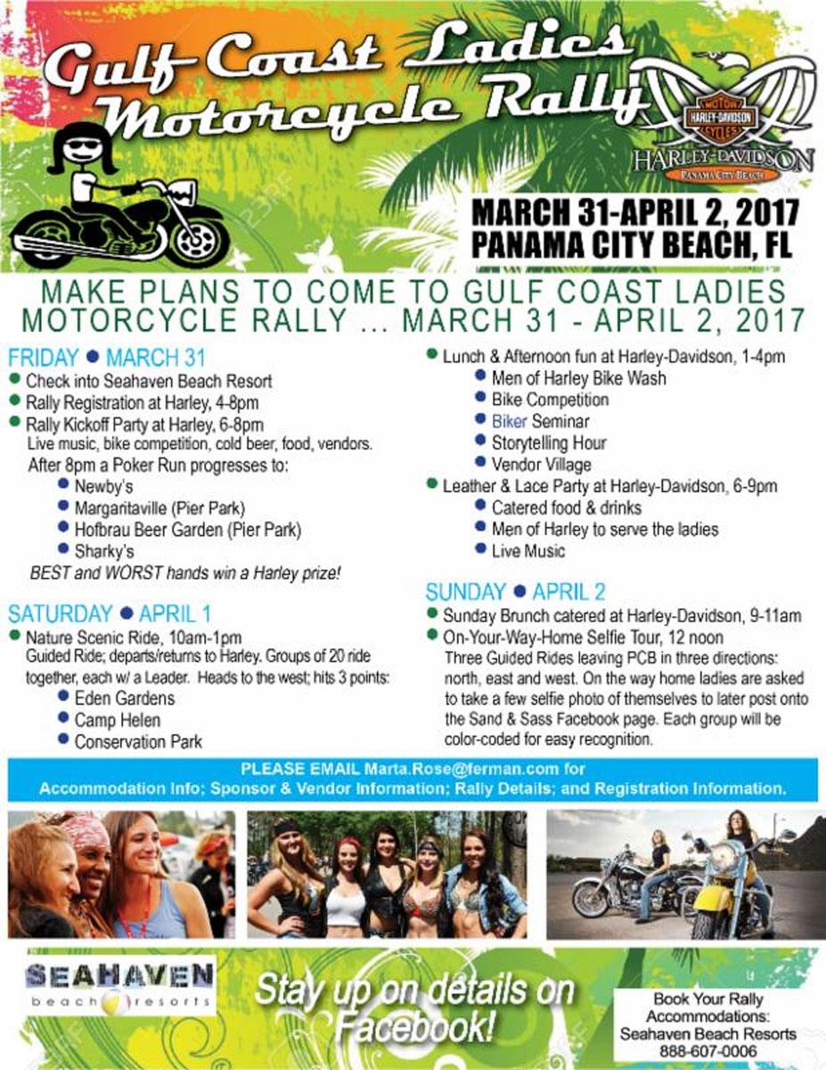 2017 Gulf Coast Ladies Motorcycle Rally Panama City Beach,FL