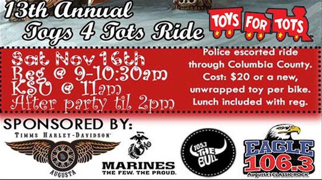H-D Timms Toys 4 Tots Ride Augusta,GA