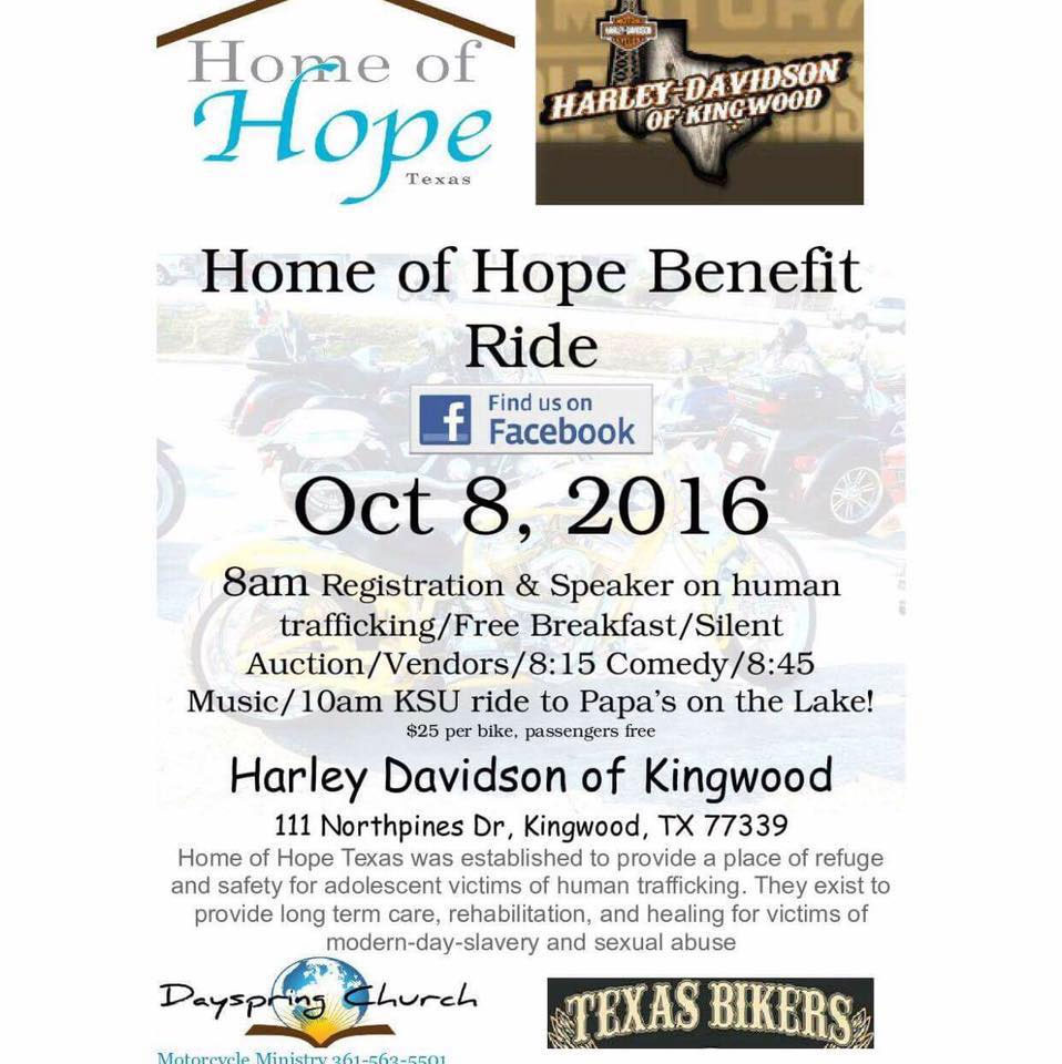 2016 Home of Hope Motorcycle Ride Porter,TX