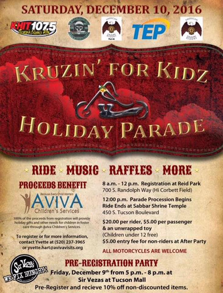 2016 Kruzin' for Kidz Holiday Parade Tucson,AZ