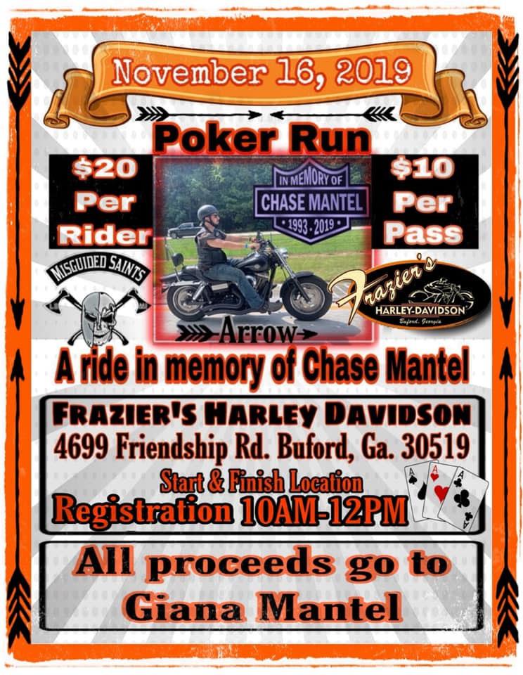 Poker Run in Memory of Chase Mantel Buford,GA