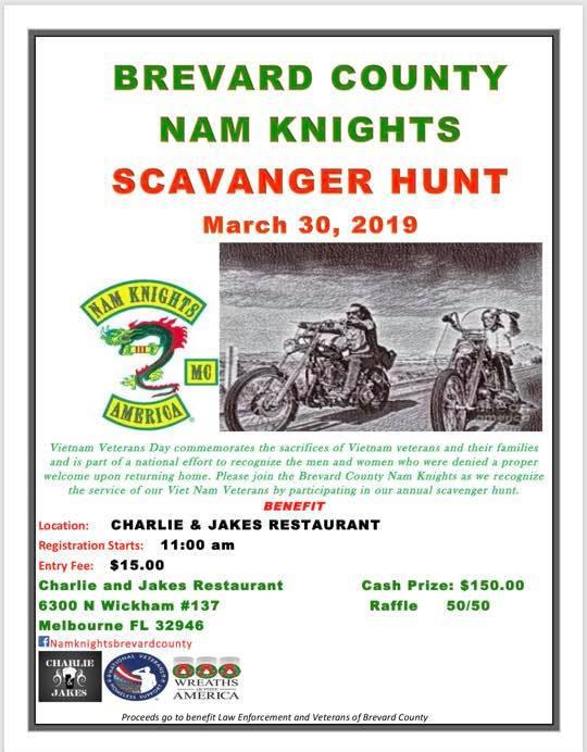 Brevard County Nam Knights Scavenger Hunt Melbourne,FL