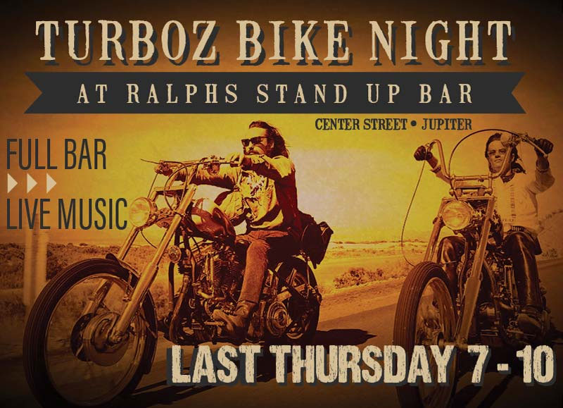 Ralph's Stand Up Bar Bike Nite by Turboz Jupiter,FL