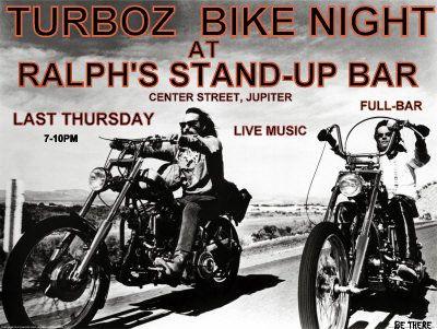 Ralph's Stand Up Bar Bike Nite by Turboz Jupiter,FL