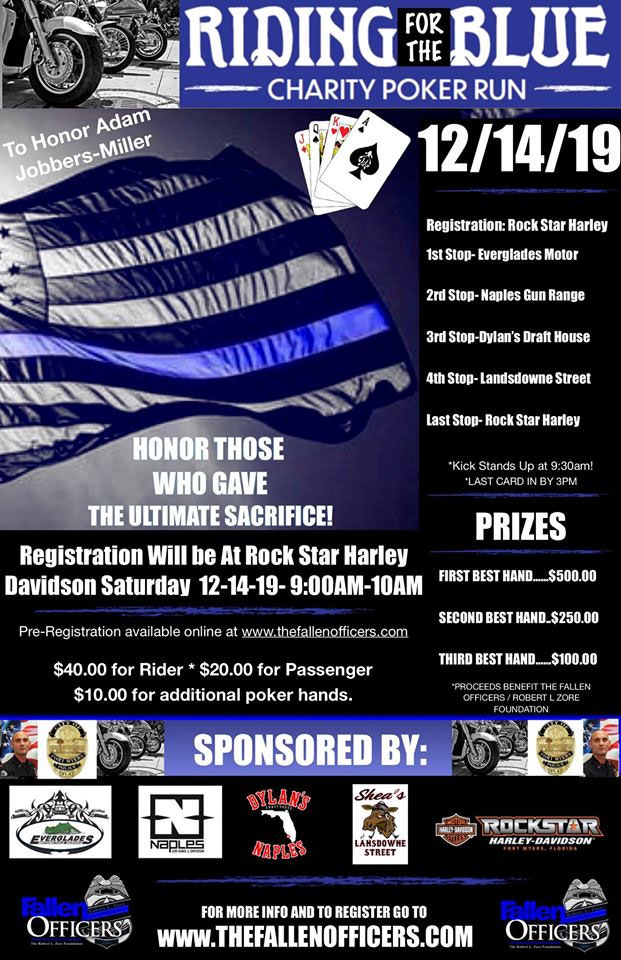 Riding For The Blue Charity Poker Run Fort Myers,FL