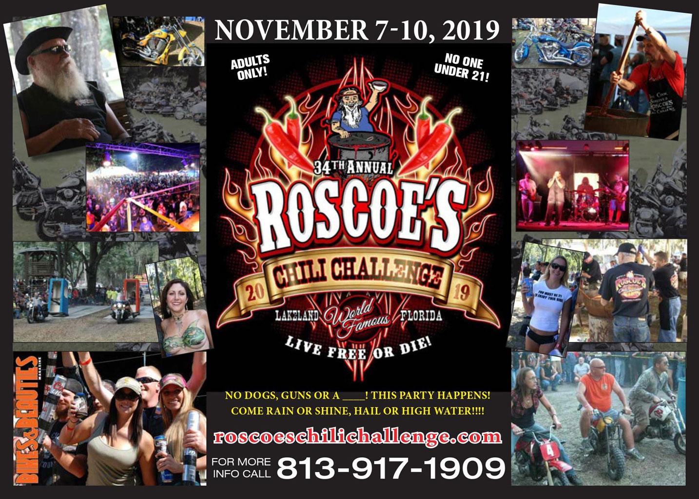 34TH Annual Roscoe's Chili Challenge Lakeland,FL