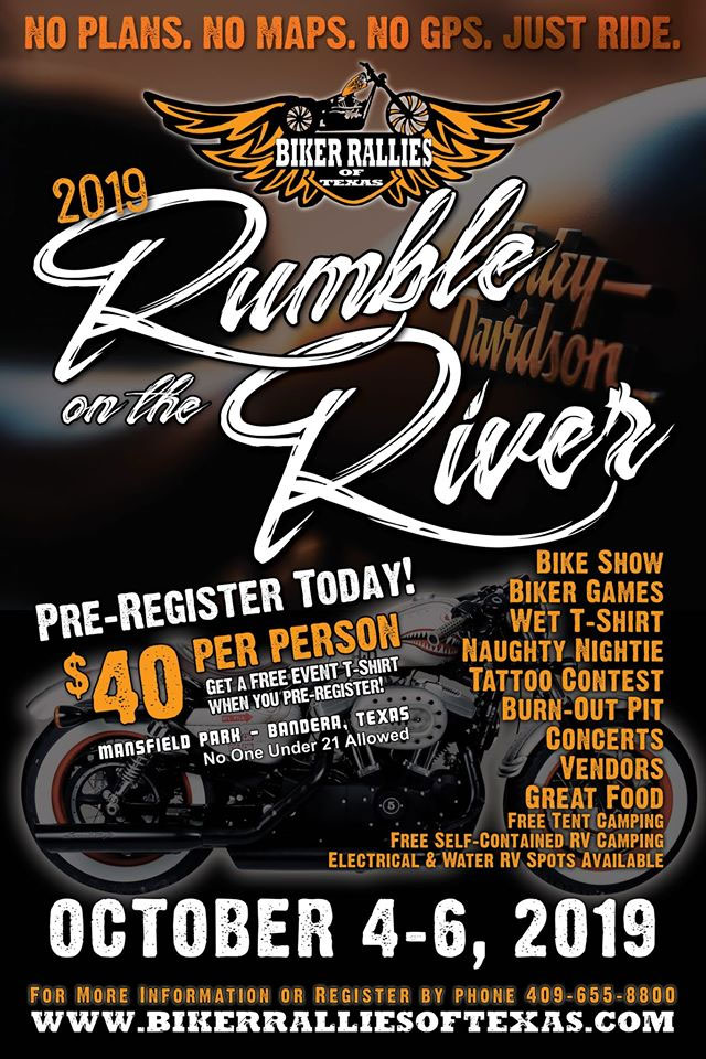 Rumble on the River Rally  Bandera,TX
