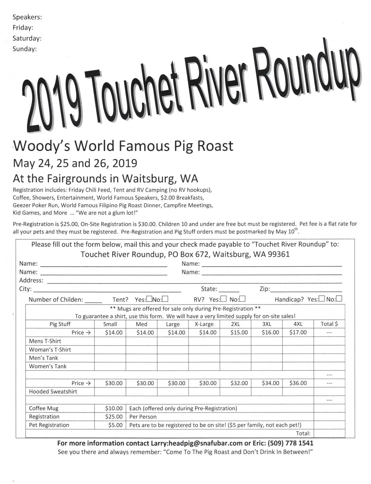 34th Annual Touchet River Outdoor Roundup Waitsburg,WA