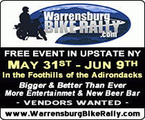 19th Annual Warrensburg Bike Rally 			Warrensburg,NY