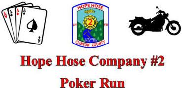 2nd Annual Hope Hose Company Poker Run Lock Haven,PA