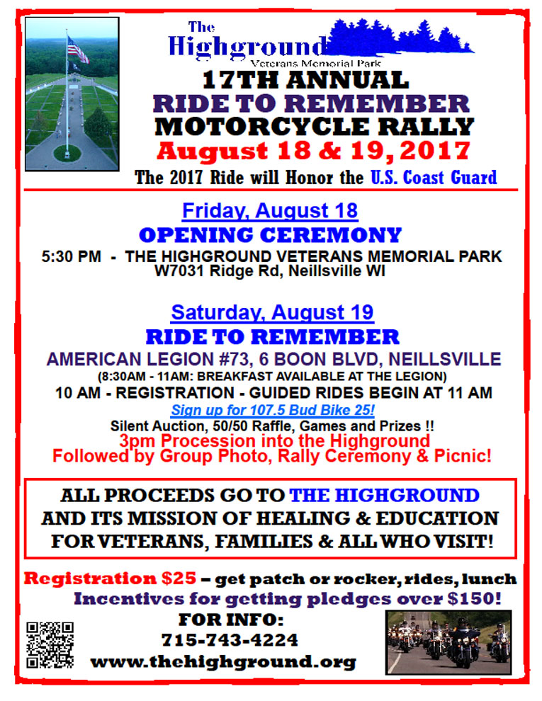 17th Annual Ride to Remember Neillsville,WI