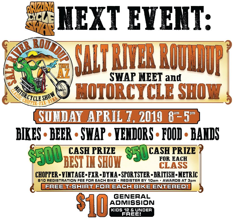 Arizona Cycle Swap/Salt River Roundup April 2019 Tempe,AZ