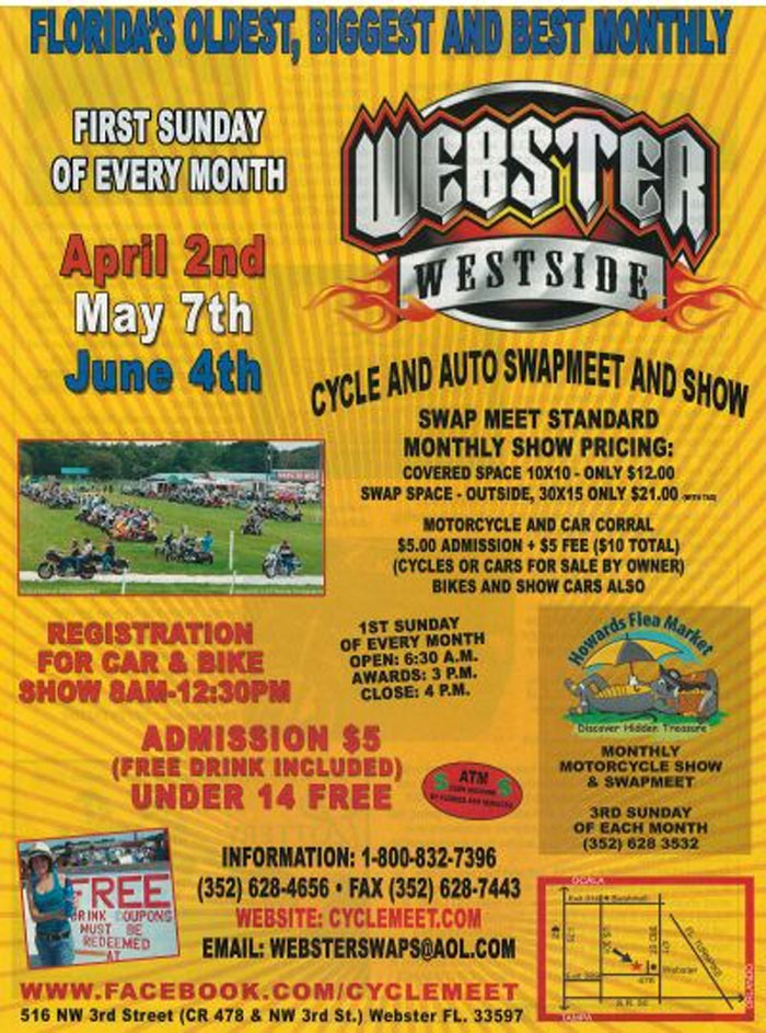 Webster Westside Car & Cycle Swap Meet Webster,FL